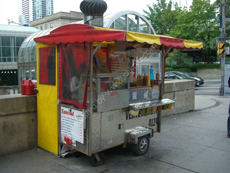 Hot Dog Stand, Union Station, Front Street West, Toronto