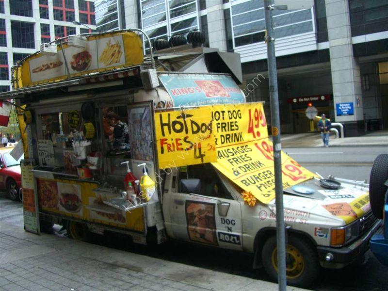 Hot Dog Van, Front Street West, Toronto