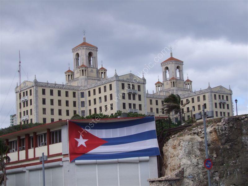 Hotel National de Cuba & Cuban Flag, Avenue Antonio Maceo (Malecon), Havana