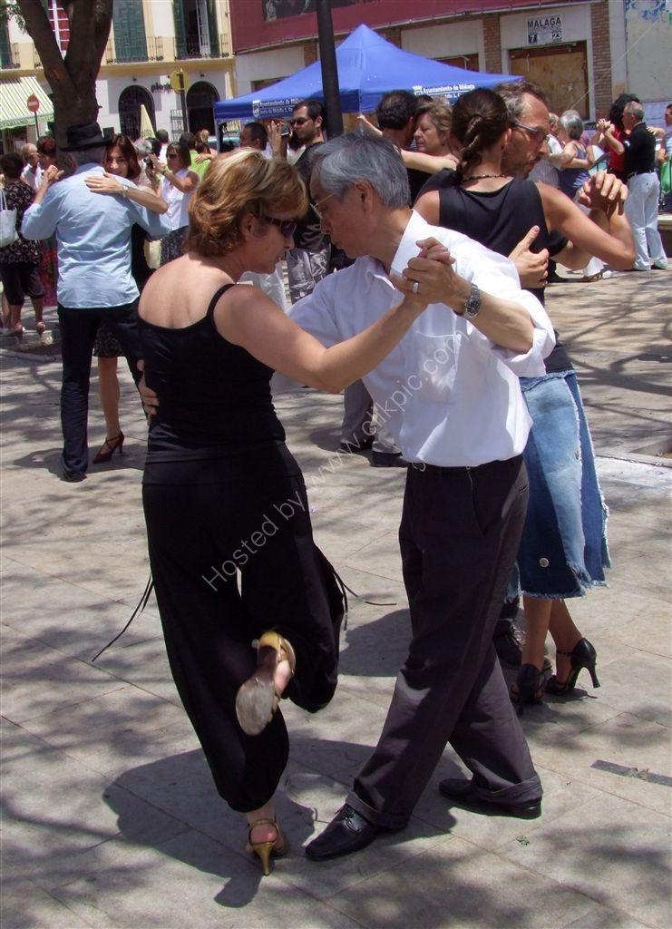 Dancing the Tango, Plaza de la Merced, Malaga