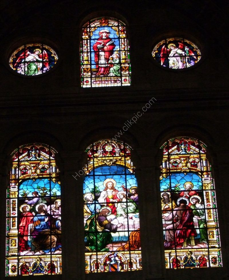 Stainglassed Window in the Cathedral, Malaga, Spain