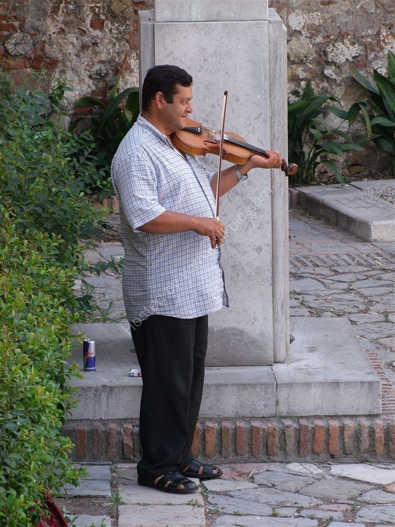 Street Musician, La Alcazaba, Malaga