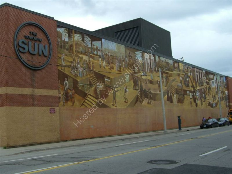 Mural on Toronto Sun Newspaper Building, Front Street East