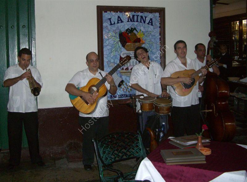 Musicians, La Mina Restaurant, Plaza de Armas, Havana