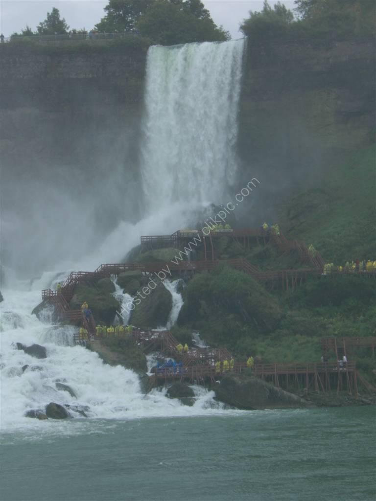 People viewing USA side of Niagara Falls