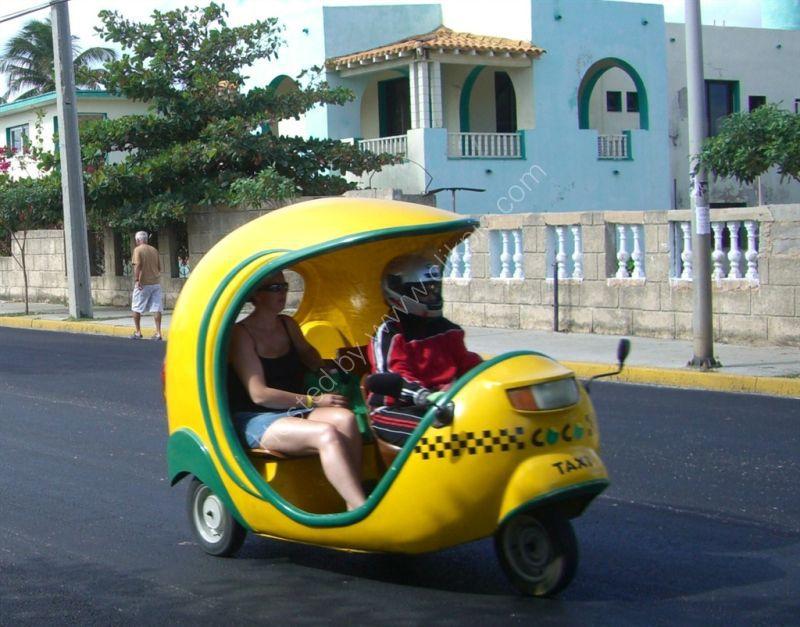 No Helmets for Passengers1, Coco Taxi, Varadero