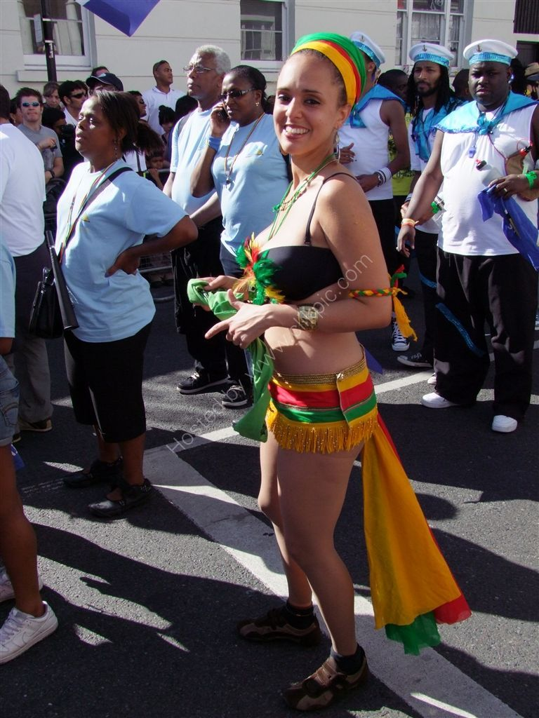 Looking pleased with herself! Nottinghill Carnival 2009