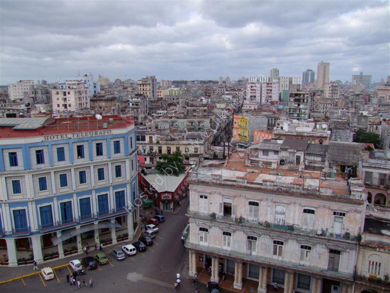 Old Havana looking towards new Havana from Central Park, Havana