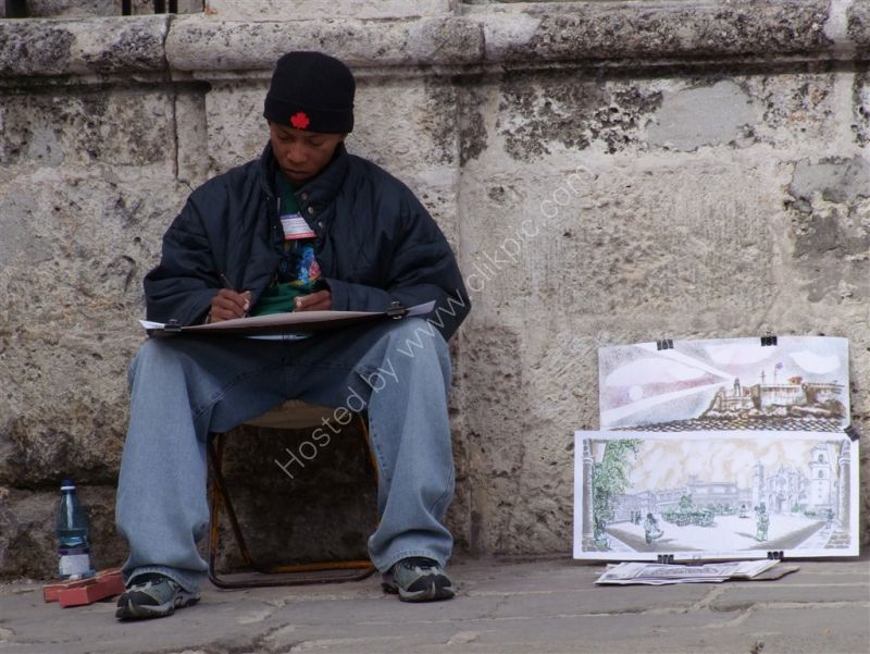 Cuban Artist, Cathedral Square, Havana