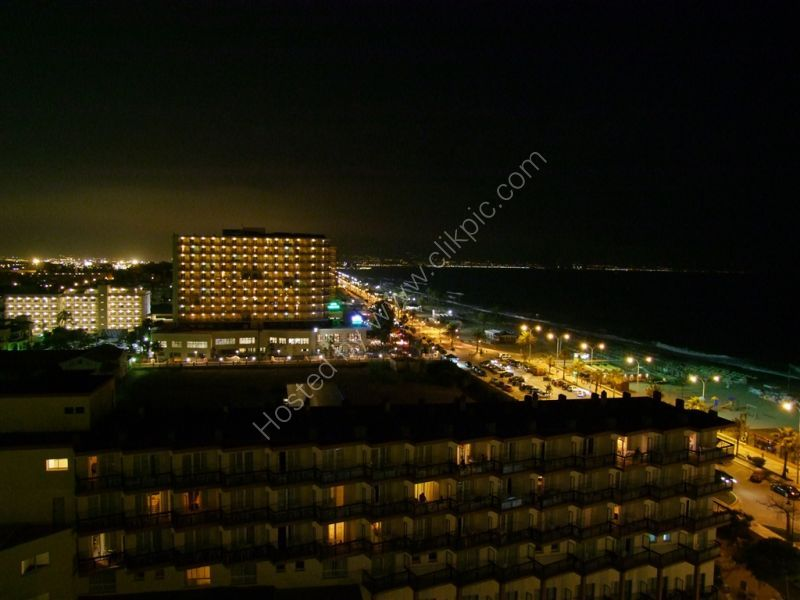 Playamar at night