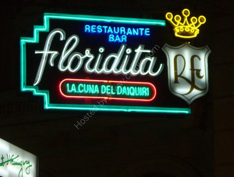 Neon Signage, La Frolidita Restaurant & Bar, Havana