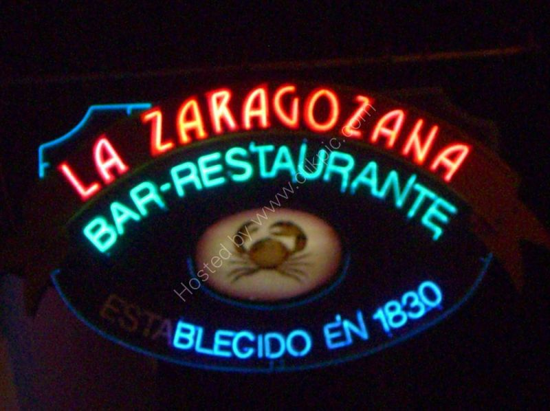 Neon Signage, La Zaragozana Restaurant & Bar, Havana
