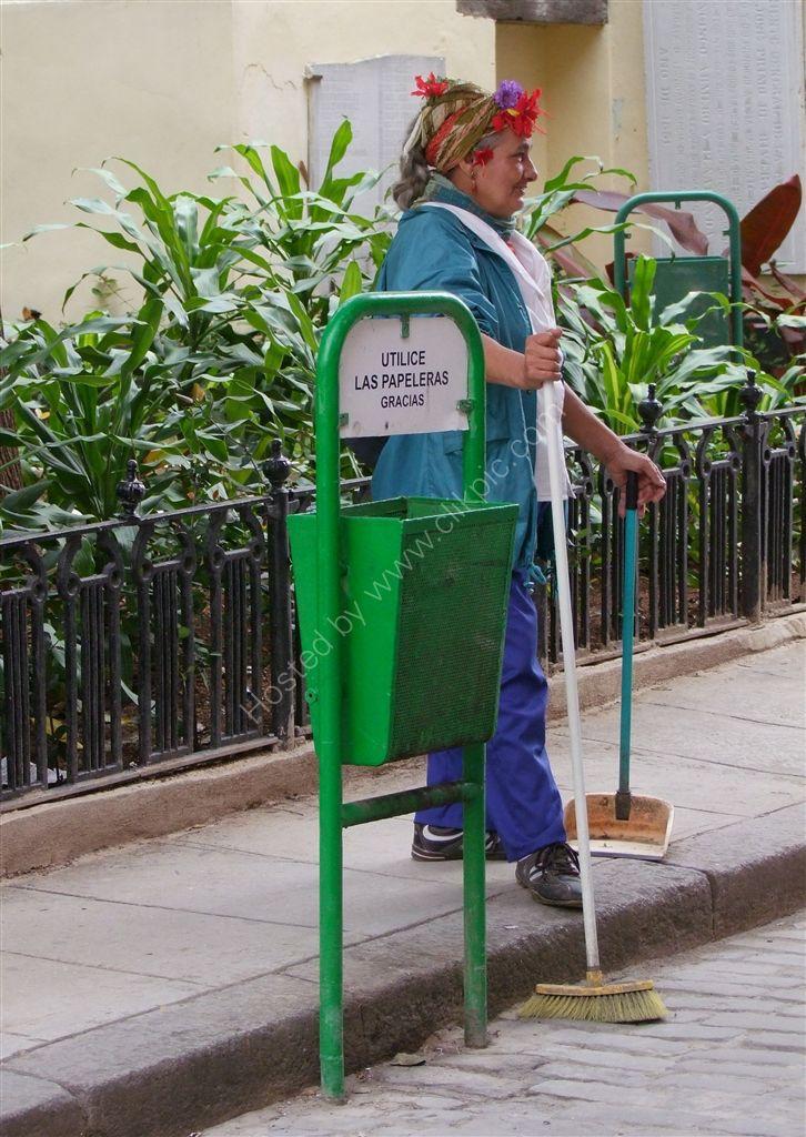 Street Sweeper, Obispo Street, Havana