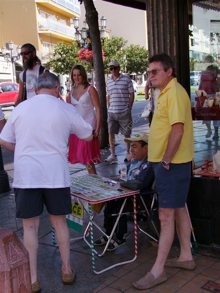 Lottery Ticket Seller & Punters, Torremolinos