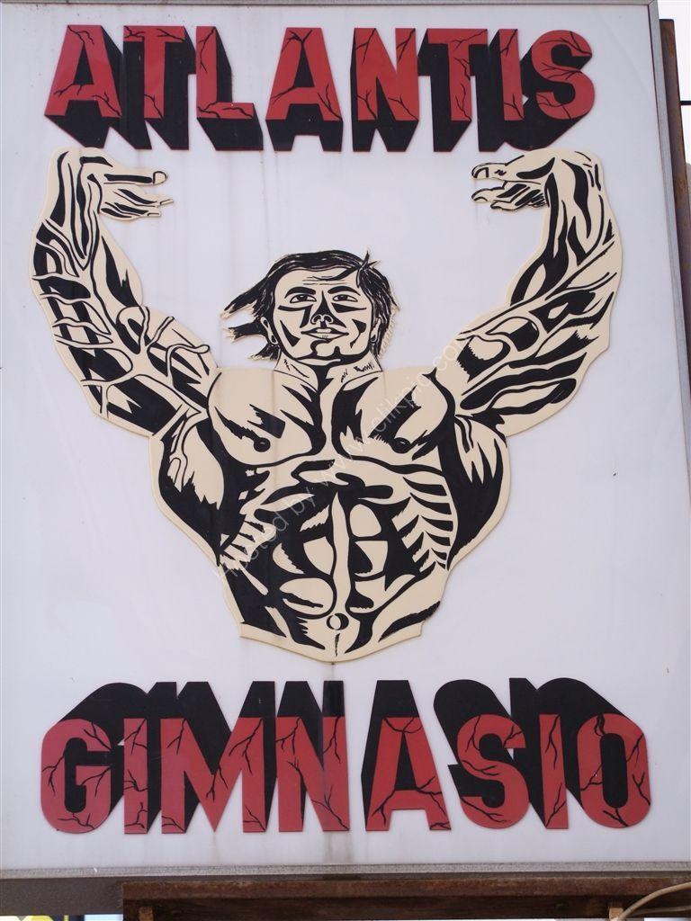 "Signage ""Atlantis Gymnasium"", Torremolinos"
