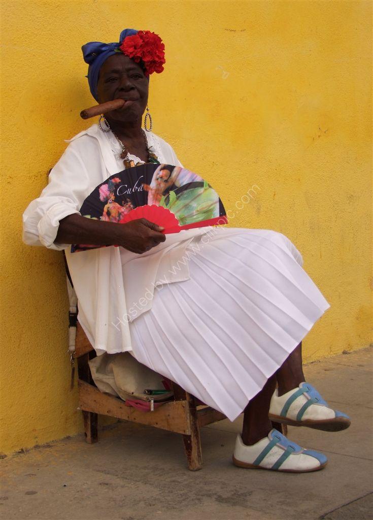 Typical Cuban Lady's Dress, Havana