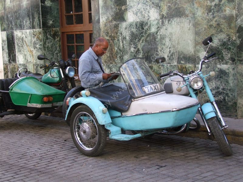 Waiting for a Fare!, Motorcycle Taxi, Havana