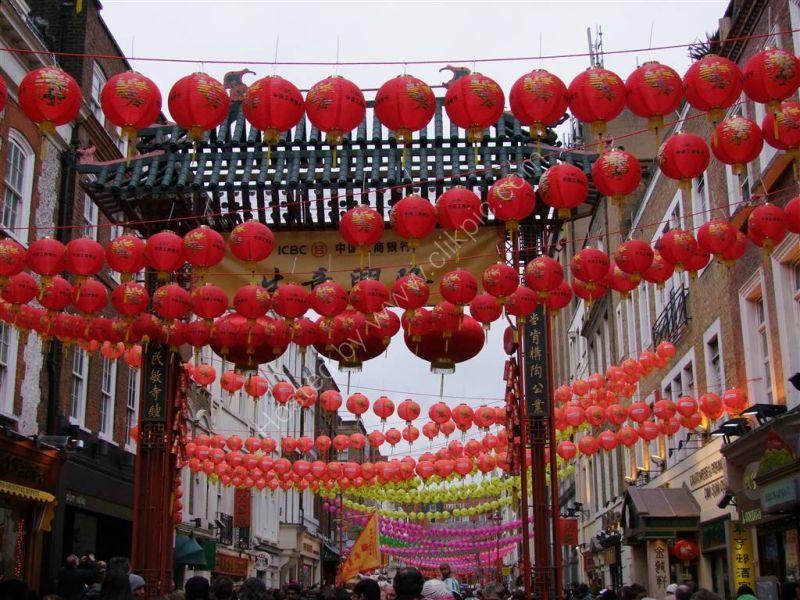 Chinese Lanterns, Chinese New Year - Year of the Tiger, Soho, London