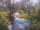 Spring Sunlight, Angus. Oil on board. 56x44cm. £1795