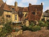 """A Courtyard in Ainay le Chateau""."