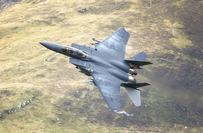 "F-15E Strike Eagle,"" Card 51"", RAF Lakenheath. Tail 205"