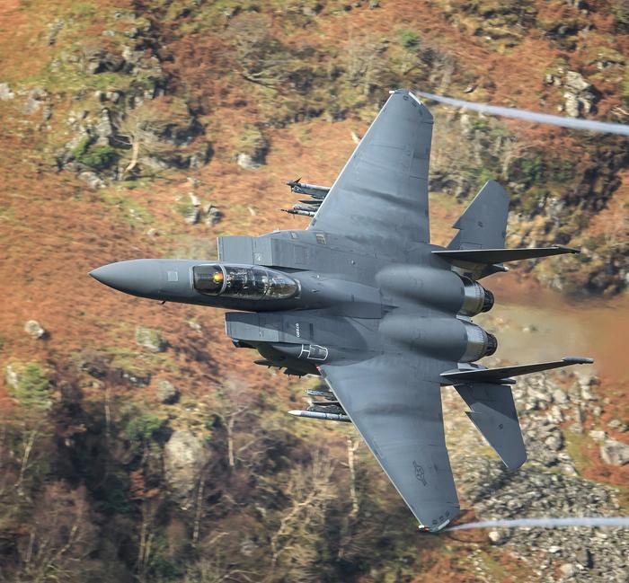 "F-15E Strike Eagle, ""Rage flight "", RAF Lakenheath. Tail 220."