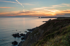 Sunset - Pembrokeshire Coastal Path, near Marloes.