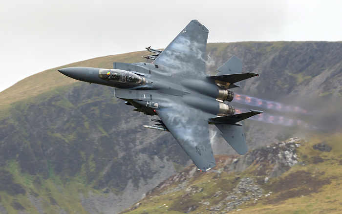 "F-15E Strike Eagle, RAF Lakenheath.""Rage 11"""
