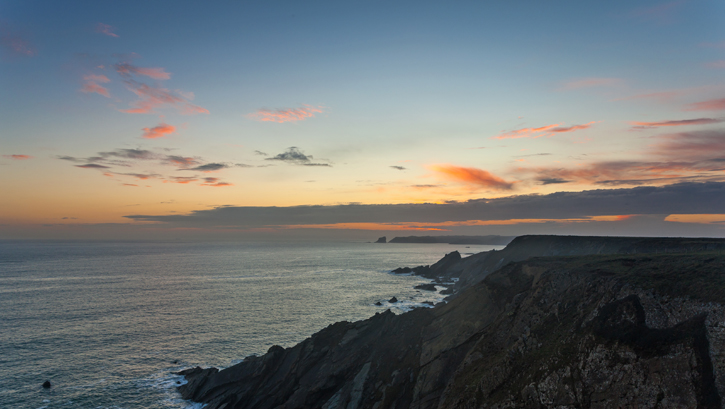 Sunset over Skomer Island 002