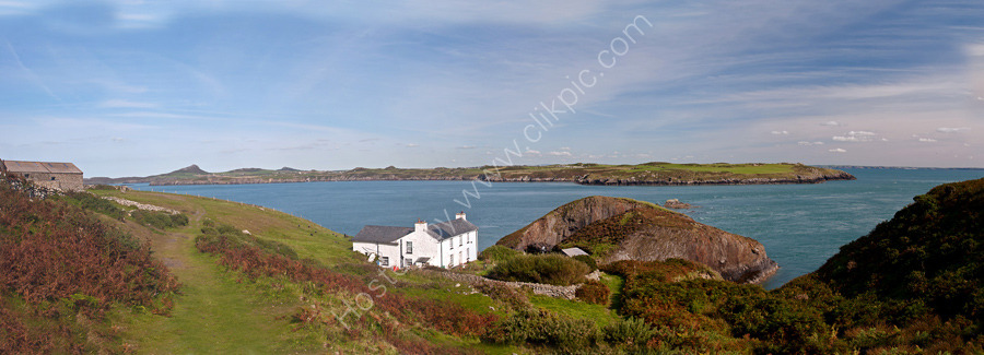 Ramsey Island - view to mainland overlooking the Farmhouse.