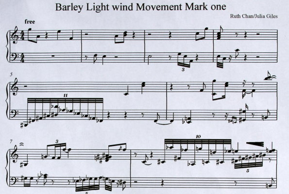 Transcribed marks to music