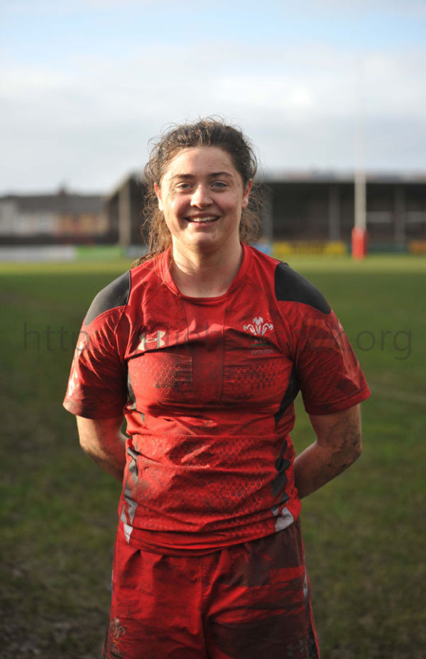 ROBYN WILKINS WITH FIRST CAP FROM PENCOED PHOENIX TEAM FOR WALES