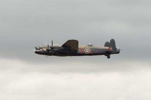 Lancaster bomber PA474 in flight.