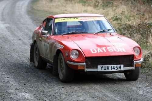 Datsun rally car.