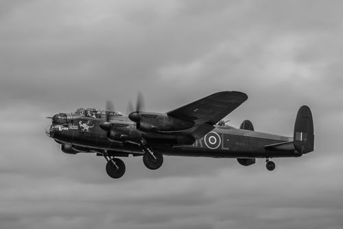 Avro Lancaster PA474 Lifts from RAF Fairford.