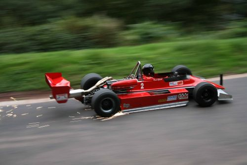 Big capacity single seater leaves sparks.