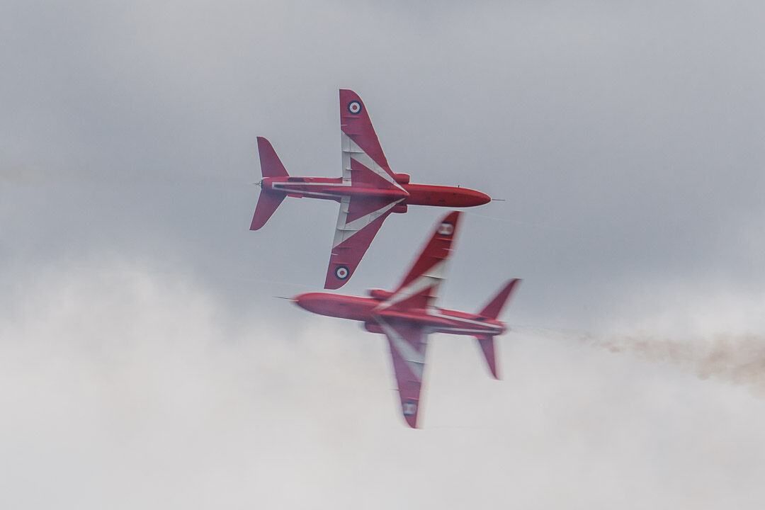 The Red Arrows Synchro Pair.