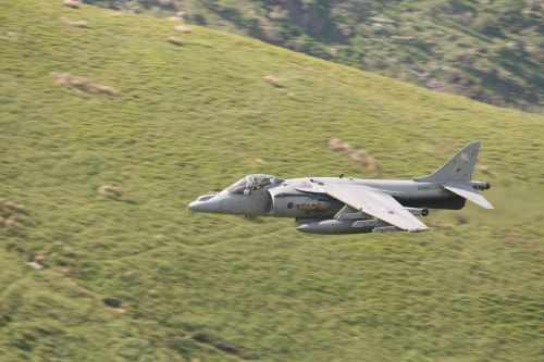 Harrier entering the Cad Pass.