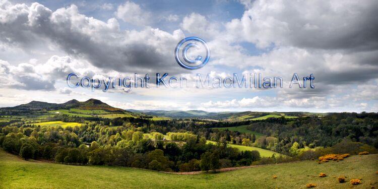 "Scots View, Scottish Borders, landscape photograph by Ken MacMillan Image size 20"" x 10"""