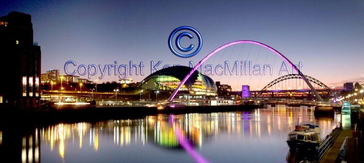 Newcastle upon Tyne Quayside.