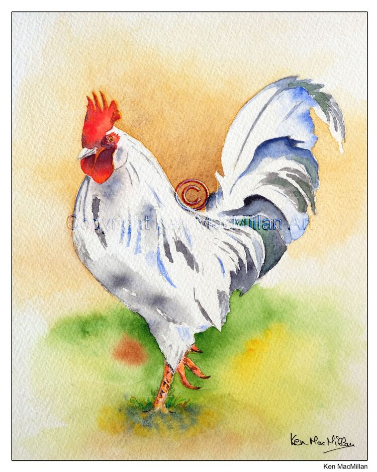 Painting of a rooster.