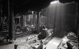 Meditating monk Shalu monastery Tibet