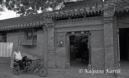 Rickshaw man Beijing China
