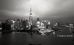 Twilight in Shanghai China