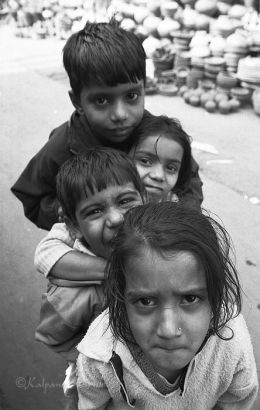 Children of Old Delhi India