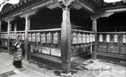 Meditative Kora walk at Jokhang temple Barkhor Lhasa Tibet