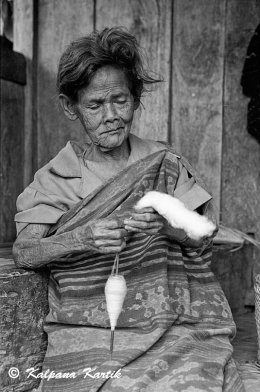 Village woman from the island of Flores Indonesia