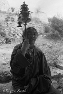 Tibetan pilgrim in Shigatse Tibet