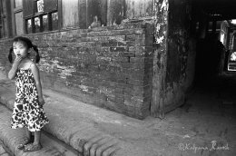 Girl in the old city of Pingyao China