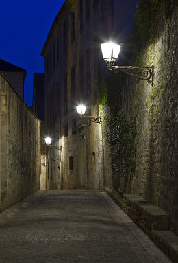 In the Medieval town of Sarlat Dordogne France